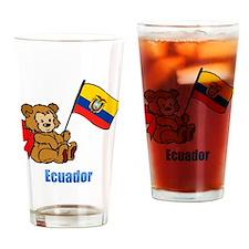 Ecuador Teddy Bear Drinking Glass