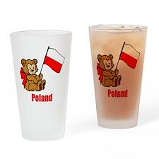Poland Teddy Bear Drinking Glass