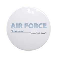 Air Force Veteran Ornament (Round)