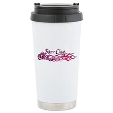 Biker Chick Ceramic Travel Mug
