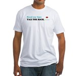 Read My Lips: TAX THE RICH. Fitted T-Shirt