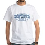 I Survived Snowpocalypse 2011 White T-Shirt