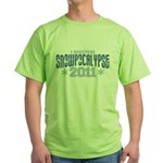 I Survived Snowpocalypse 2011 Green T-Shirt