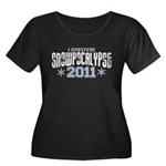 I Survived Snowpocalypse 2011 Women's Plus Size Scoop Neck Dark T-Shirt
