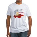 Bled Dry at the Gas Pump Fitted T-Shirt