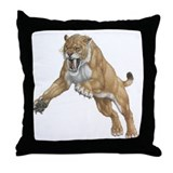 Smilodon Den Throw Pillow