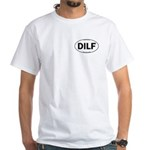 DILF Euro Oval White T-Shirt