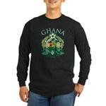 Ghana Soccer Long Sleeve Dark T-Shirt