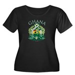 Ghana Soccer Women's Plus Size Scoop Neck Dark T-Shirt