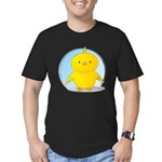 Whee! Chick v2.0 Men's Fitted T-Shirt (dark)