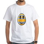 Smiley Easter Egg White T-Shirt