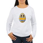 Smiley Easter Egg Women's Long Sleeve T-Shirt