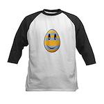 Smiley Easter Egg Kids Baseball Jersey