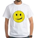 Smiley Face - Evil Grin White T-Shirt