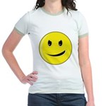 Smiley Face - Evil Grin Jr. Ringer T-Shirt
