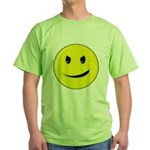 Smiley Face - Evil Grin Green T-Shirt