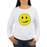 Smiley Face - Evil Grin Women's Long Sleeve T-Shirt