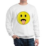 Smiley Face - Tongue Out Sweatshirt