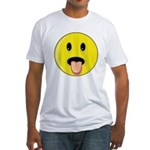 Smiley Face - Tongue Out Fitted T-Shirt