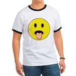 Smiley Face - Tongue Out Ringer T