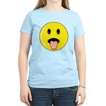 Smiley Face - Tongue Out Women's Light T-Shirt