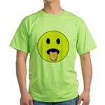 Smiley Face - Tongue Out Green T-Shirt