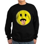 Smiley Face - Tongue Out Dark Sweatshirt (dark)