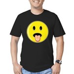 Smiley Face - Tongue Out Men's Fitted T-Shirt (dark)