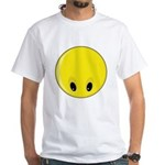 Smiley Face - Looking Down White T-Shirt