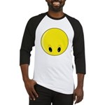 Smiley Face - Looking Down Baseball Jersey