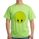 Smiley Face - Looking Down Green T-Shirt
