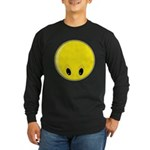 Smiley Face - Looking Down Long Sleeve Dark T-Shirt