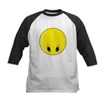 Smiley Face - Looking Down Kids Baseball Jersey