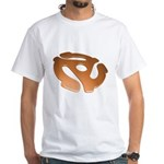 Orange 3D 45 RPM Adapter White T-Shirt