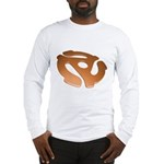 Orange 3D 45 RPM Adapter Long Sleeve T-Shirt