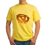 Orange 3D 45 RPM Adapter Yellow T-Shirt