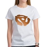 Orange 3D 45 RPM Adapter Women's T-Shirt