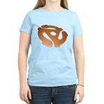 Orange 3D 45 RPM Adapter Women's Light T-Shirt
