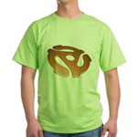 Orange 3D 45 RPM Adapter Green T-Shirt