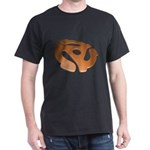 Orange 3D 45 RPM Adapter Dark T-Shirt