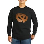 Orange 3D 45 RPM Adapter Long Sleeve Dark T-Shirt