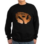 Orange 3D 45 RPM Adapter Dark Sweatshirt (dark)