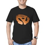 Orange 3D 45 RPM Adapter Men's Fitted T-Shirt (dark)