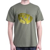 Gold 3D 45 RPM Adapter T-Shirt