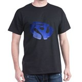 Blue 3D 45 RPM Adapter T-Shirt