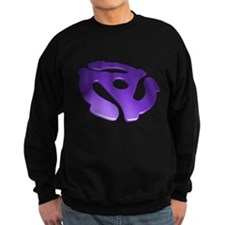 Purple 3D 45 RPM Adapter Dark Sweatshirt