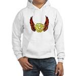 Red Winged 45 RPM Adapter Hooded Sweatshirt
