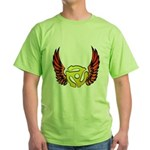Red Winged 45 RPM Adap Green T-Shirt