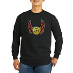 Red Winged 45 RPM Adapter Long Sleeve Dark T-Shirt
