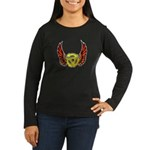 Red Winged 45 RPM Adapter Women's Long Sleeve Dark T-Shirt